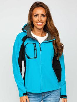 Modrá dámská přechodová softshellová bunda Bolf 9055