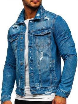 Modrá pánská džínová bunda Bolf AK588