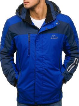 Modrá pánská zimní lyžářská bunda Bolf F806