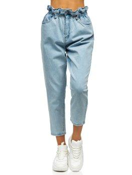 Modré dámské džíny mom fit Bolf WL1758
