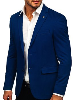 Modré elegantní pánské sako Bolf C191060