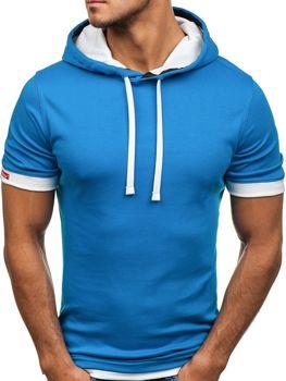 Modré pánské tričko bez potisku Bolf 08