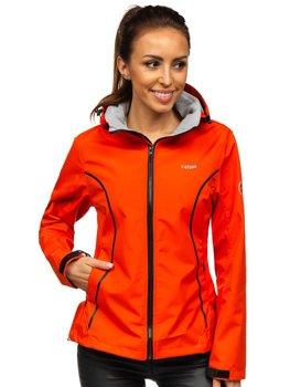 Oranžová dámská přechodová softshellová bunda Bolf S010