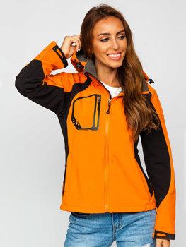 Oranžováá dámská přechodová softshellová bunda Bolf 9055