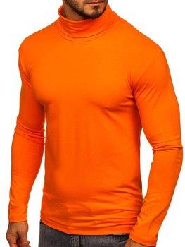 Oranžový pánský rolák bez potisku Bolf S6963