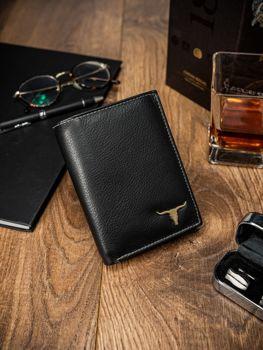 Pánská černá kožená peněženka 13