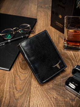 Pánská černá kožená peněženka 60