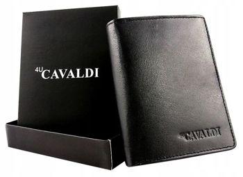 Pánská černá kožená peněženka 613