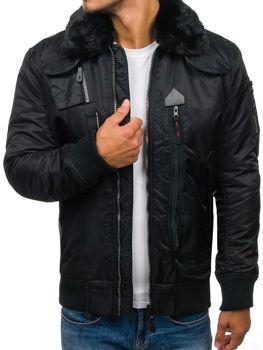 Pánská černá zimní bunda Bolf 3095