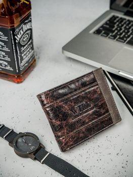 Pánská hnědá kožená peněženka 3162