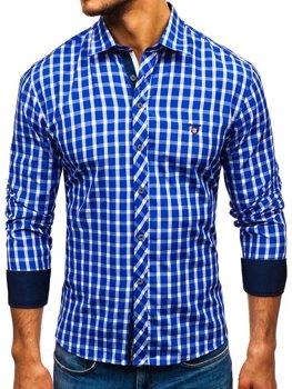 Pánská košile BOLF 4747 královsky modrá