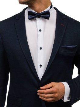 Pánská sada kravata, manžetové knoflíčky, inkoustově modrý kapesníček Bolf MSP01