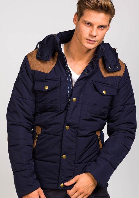 Pánská tmavě modrá zimní bunda Bolf 3088