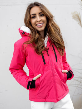 Růžová dámská zimní lyžařská bunda Bolf HH012