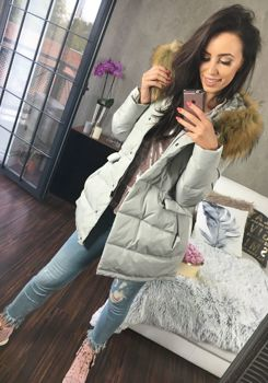 Šedá dámská zimní bunda Bolf 8065