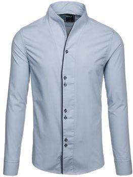 Šedá pánská košile s dlouhým rukávem Bolf 5720-1