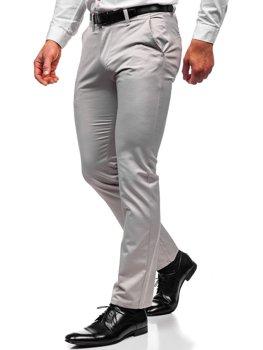 Šedé pánské chino kalhoty Bolf KA1786P