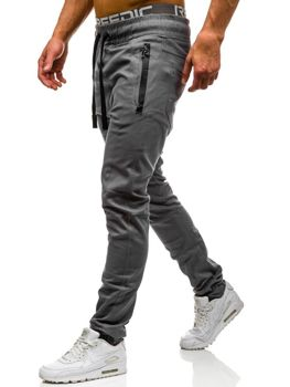 Šedé pánské jogger kalhoty Bolf 0803