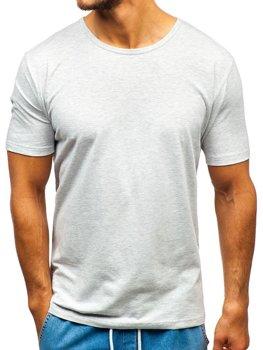 Šedé pánské tričko bez potisku Bolf T1281