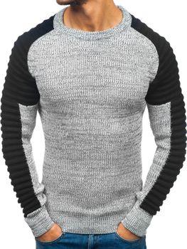Šedo-černý pánský svetr Bolf 157 3ff681c145