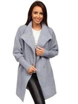 Šedý dámský kabát Bolf 7118-1