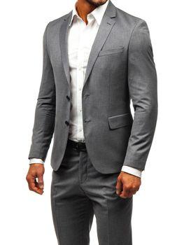 Šedý pánský oblek Bolf 19200-1