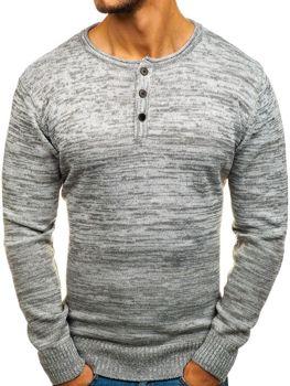 Šedý pánský svetr Bolf H1821