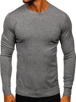 Šedý pánský svetr Bolf YY01