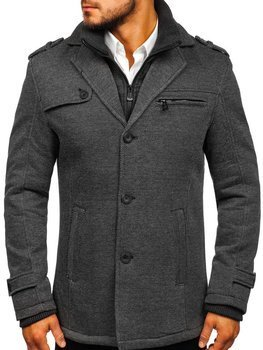 Šedý pánský zimní kabát Bolf 88805