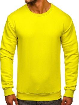 Světle žlutá pánská mikina bez kapuce Bolf 171715