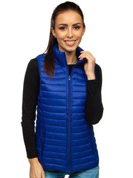 Tmavě modrá dámská prošívaná vesta Bolf 20314