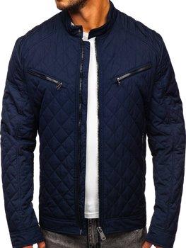 Tmavě modrá pánská elegantní p?echodová bunda Bolf EX2058