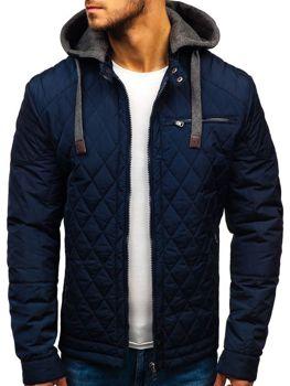 Tmavě modrá pánská přechodová bunda Bolf 1767 953d5151a8d