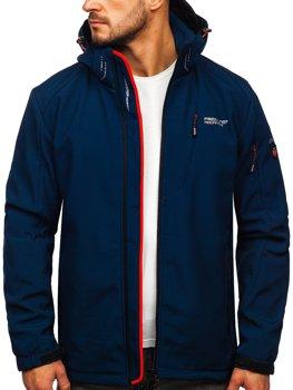 Tmavě modrá pánská softshellová bunda Bolf BK122