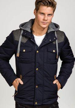 Tmavě modrá pánská zimní bunda Bolf 3078