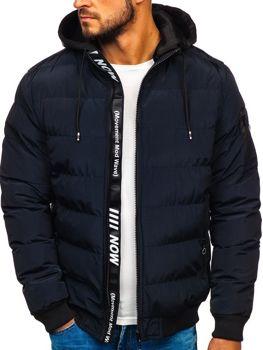 Tmavě modrá pánská zimní bunda Bolf 5894