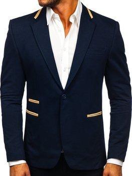 Tmavě modré elegantní pánské sako Bolf 9400