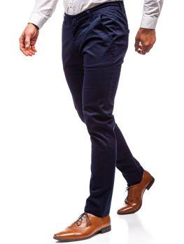 Tmavě modré pánské chino kalhoty Bolf 2901