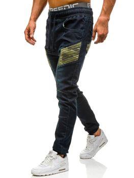 Tmavě modré pánské džínové jogger kahoty Bolf 0809