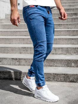 Tmavě modré pánské džínové jogger kahoty Bolf HY898