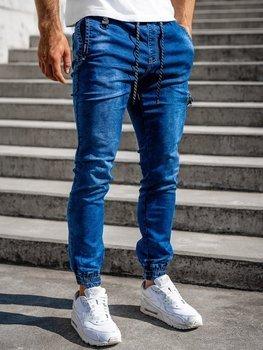 Tmavě modré pánské džínové jogger kahoty Bolf KA816