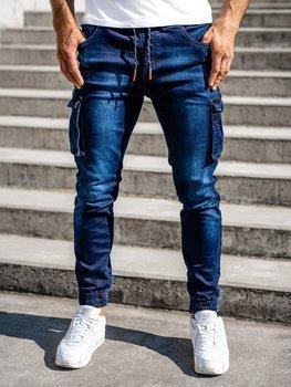 Tmavě modré pánské džínové jogger kapsáče Bolf R51001S0
