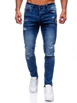 Tmavě modré pánské džíny regular fit Bolf 4003-1