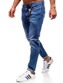 Tmavě modré pánské džíny regular fit Bolf KA296