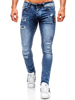 Tmavě modré pánské džíny regular fit Bolf R4003
