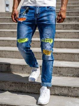 Tmavě modré pánské džíny skinny fit Bolf 85002S0
