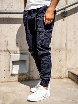 Tmavě modré pánské jogger kapsáče Bolf CT6703