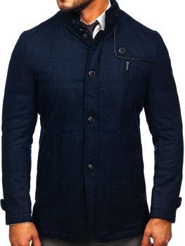 Tmavě modry pánsky kabát Bolf EX66A