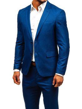 Tmavě modrý pánský oblek Bolf 19200-1