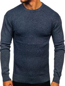 Tmavě modrý pánský svetr Bolf 8512